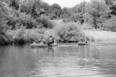 Kanutour zum Vereinsausflug 1998