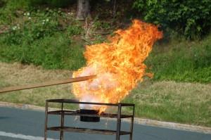 Tag der offenen Tür 2009: Fettexplosion