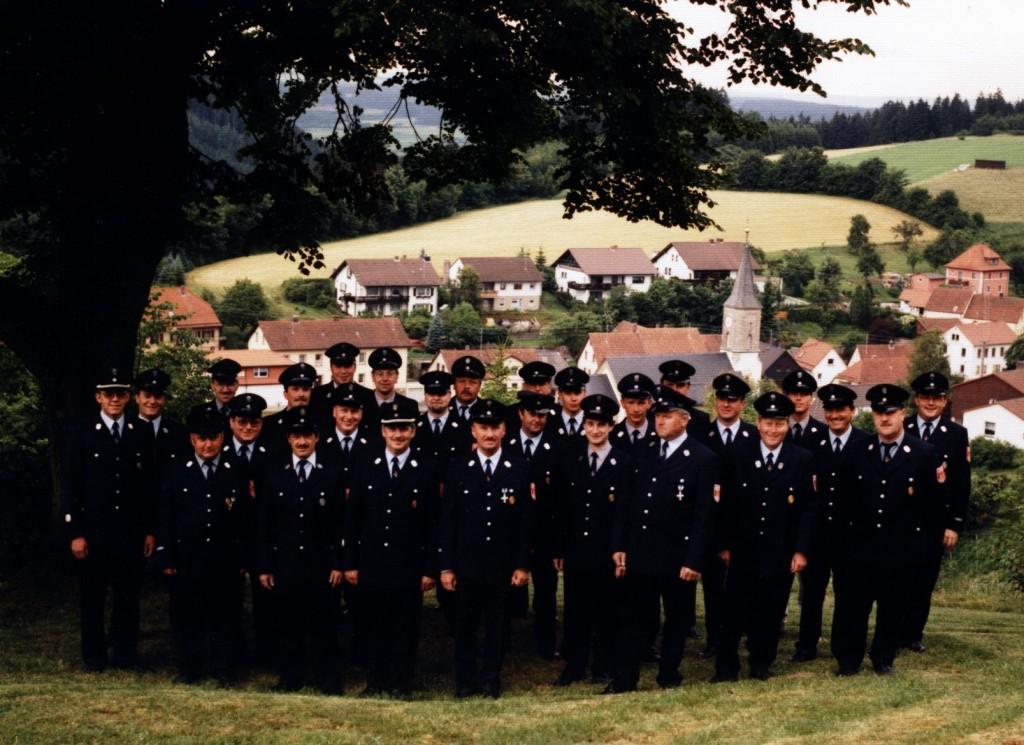 Die Aktiven der FF Wartenfels im Jahr 2000