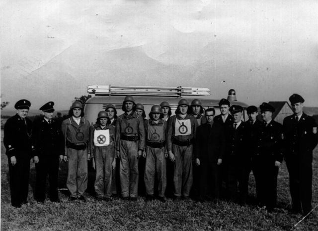 Die Aktiven der Löschgruppe Oberehesberg im Jahr 1965